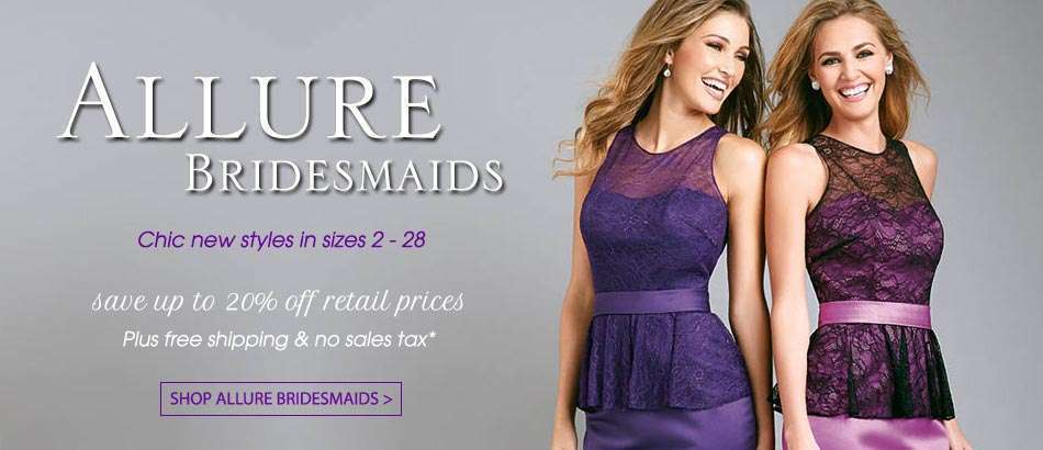 Allure Bridesmaids Dresses at House of Brides