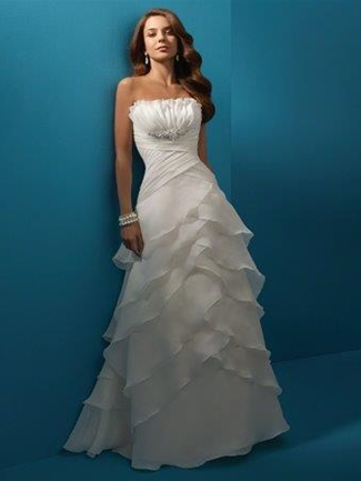 Buy Alfred Angelo Bridal Gown with sizes 10 8 6 in Dark Ivory – ID2100