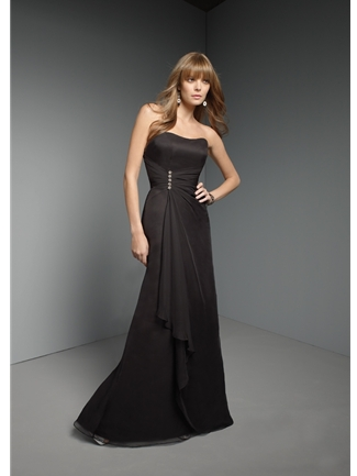 Mori Lee Bridesmaid Dress with sizes 16 14 12 in Black – ID262