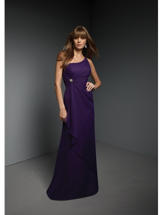 Mori Lee Bridesmaid Dress with sizes 12 10 8 in Grape – ID270