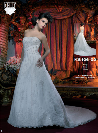 Kelly Star Bridal Gown - KS106-03 (Kelly Star Bridal Gowns)