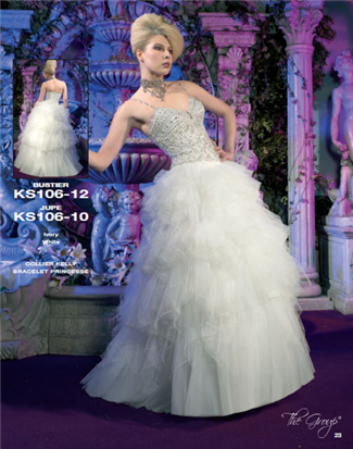 Kelly Star Bridal Gown - KS106-10 (Kelly Star Bridal Gowns)