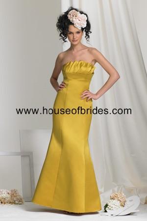 Buy Bari Jay Bridesmaid Dress with sizes 14 12 10 in Mustard – ID370