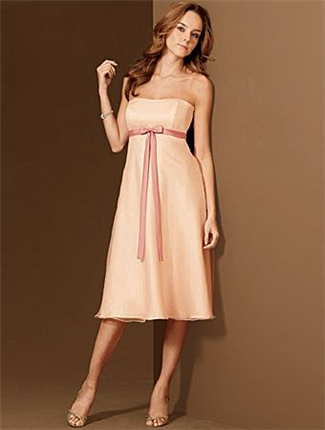 Buy Alfred Angelo Bridesmaid Dress with sizes 8 6 4 in Peach – ID6476