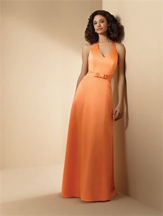 Buy Alfred Angelo Bridesmaid Dress with sizes 10 8 6 in Tangerine – ID6541