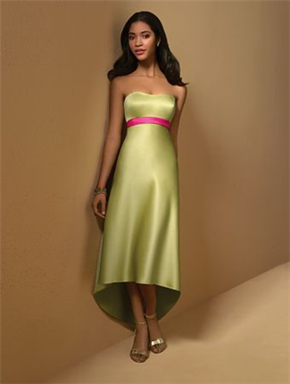 Buy Alfred Angelo Bridesmaid Dress with sizes 10 8 6 in Kiwi/Fuchsia – ID7004