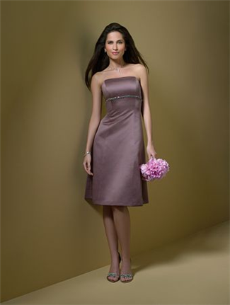 Alfred Angelo Bridesmaid Dress with sizes 12 10 8 in Mocha – ID7048