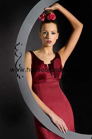 Bari Jay Bridesmaid Dress with sizes 12 10 8 in Red – ID801