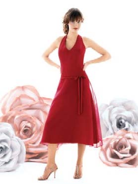 After Six Bridesmaid Dress with sizes 10 8 6 in Claret – ID6250