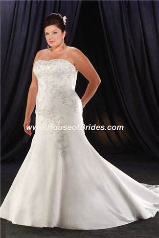 Buy Unforgettable by Bonny Plus Size Bridal Gown with sizes 18W 16W 14W in White – ID1901