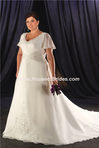 Buy Unforgettable by Bonny Plus Size Bridal Gown with sizes 20W 18W 16W in Ivory – ID1910