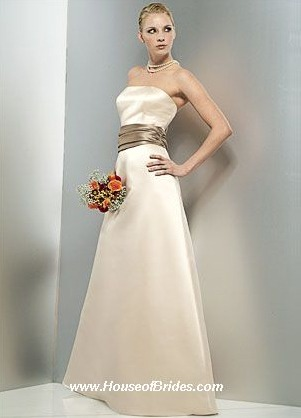 Bill Levkoff Bridesmaid Dresses with sizes 4 6 8 10 12 14 16 in European Sable/Tan – ID966