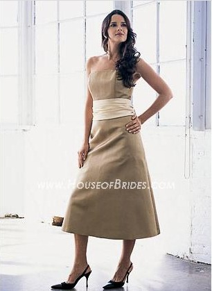 Bill Levkoff Bridesmaid Dresses with sizes 2 4 6 8 10 in European Sage/Ivory – ID301