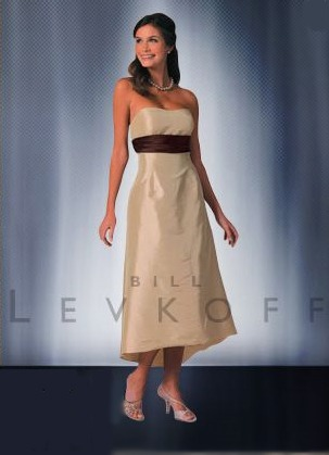Bill Levkoff Bridesmaid Dresses with sizes 4 6 8 10 12 20 22 24 in Burnt Orange/Sable – ID279