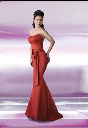DaVinci Bridals Bridesmaid Dresses with sizes 4 6 8 10 12 14 16 in Red – ID9150