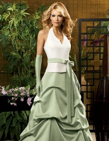 Jordan Fashions Quick Delivery Bridesmaid Dress with sizes 8 6 4 in Diamond/Pistachio – ID1412