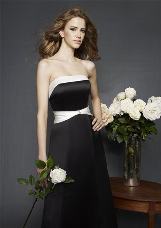 Mori Lee Bridesmaid Dress with sizes 12 10 8 in Black/Ivory – ID201