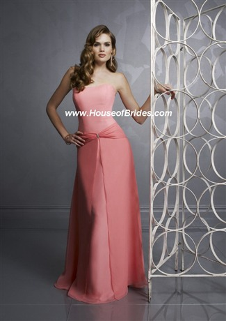 Mori Lee Bridesmaid Dress with sizes 12 10 8 in Coral – ID367