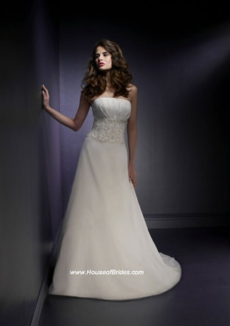 Buy Voyage by Mori Lee Bridal Gown with sizes 14 12 10 in Pearl/Silver – ID6144