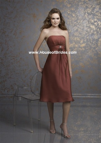 Affairs by Mori Lee Bridesmaid Dress with sizes 10 8 6 in Chocolate/Pink – ID745
