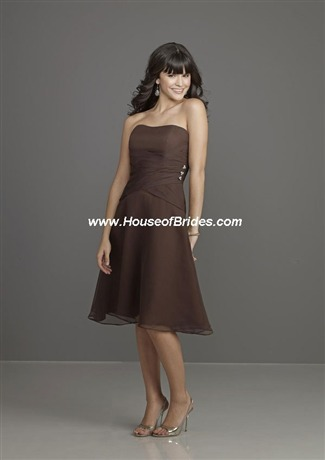 Affairs by Mori Lee Bridesmaid Dress with sizes 12 10 8 in Chocolate – ID783