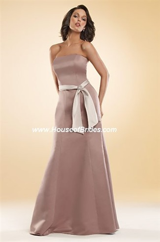 Eden Bridals Bridesmaid Dresses with sizes 10 8 6 in Brown/Oyster – ID7235