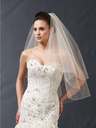 The Berger Collection for Mon Cheri Veil Style 9490 | House of Brides