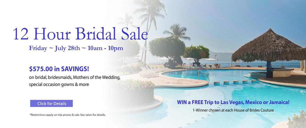 12 Hour Bridal Sale