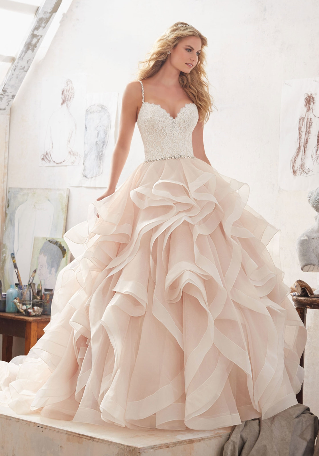 Mori lee wedding dresses wedding dress style 8127marilyn house select color junglespirit Choice Image