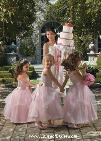 Watters Girls Flowergirl Dress Style 44218 | House of Brides