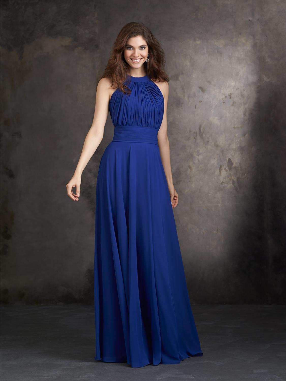 Sapphire Blue Bridesmaid Dresses - Short Hair Fashions