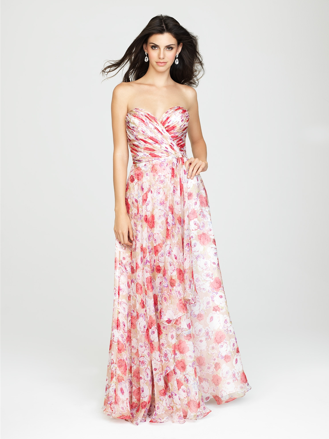 Allure bridesmaids bridesmaid dress style 1436 house of brides select color junglespirit Gallery