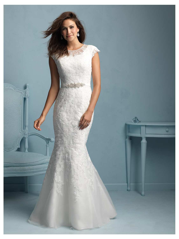 allure modest lace wedding dress modest wedding dresses Allure