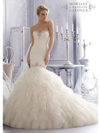 Trumpet style wedding dresses trumpet bridal gowns house of brides junglespirit Image collections