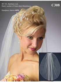 JL Johnson Bridals Veil Style C308CATHEDRAL | House of Brides
