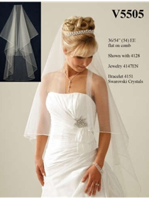JL Johnson Bridals Veil Style V5505 | House of Brides