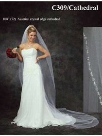 JL Johnson Bridals Veil Style C309Cathedral | House of Brides