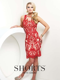 Shorts by Mon Cheri Short Formal Dress Style TS21580 | House of Brides