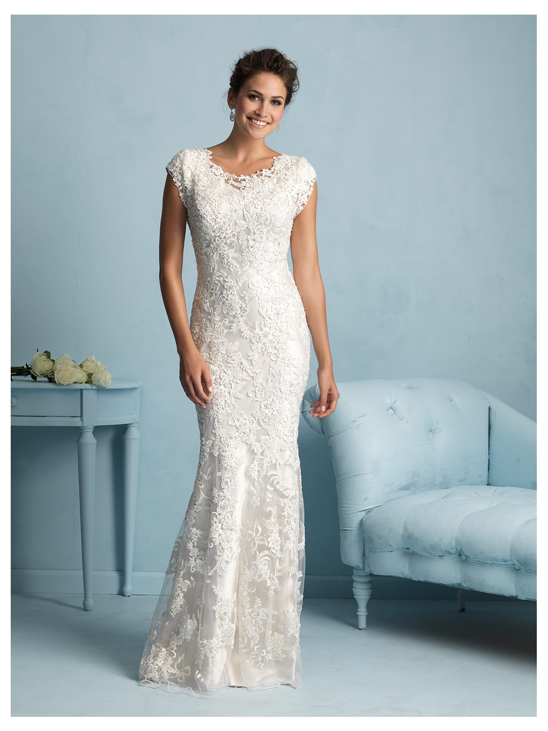 Allure Modest Wedding Dress Style M536 | House of Brides