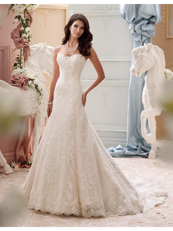 David Tutera for Mon Cheri Wedding Dress Style 115245 | House of Brides