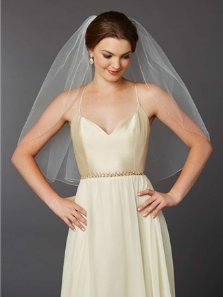 Mariell Veil Style 4434V-30-I-G | House of Brides