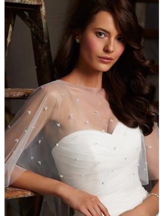 Mori Lee Accessories Bridal Cape Style 11010 | House of Brides