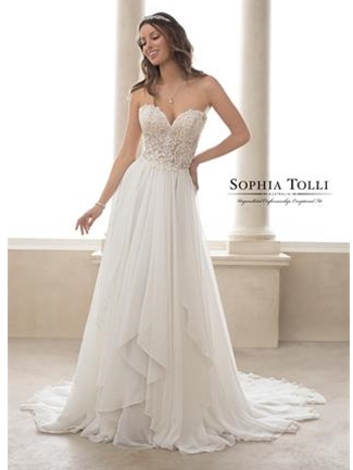 Sophia Tolli Bridals Wedding Dress Style Y21826/Almandine | House of Brides
