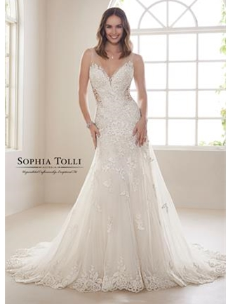 Sophia Tolli Bridals Wedding Dress Style Y21830/Magnesite | House of Brides