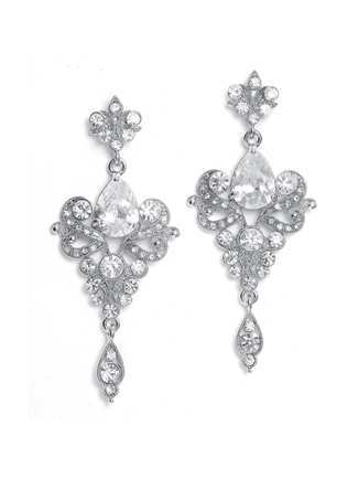 Mariell Earrings Style 741E-CR | Windy City Dress