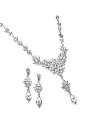Mariell Necklace Set Style 1003S-CR | Windy City Dress