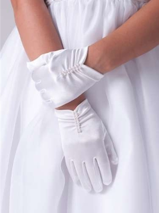 Us Angels Satin Gloves Style G-9 | House of Brides