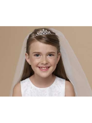 Us Angels Tiara with attached Veil Style V-77 | House of Brides