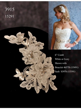 JL Johnson Bridals Hair Clip Style 3915 | House of Brides