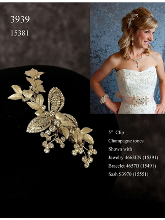 JL Johnson Bridals Hair Clip Style 3939 | House of Brides